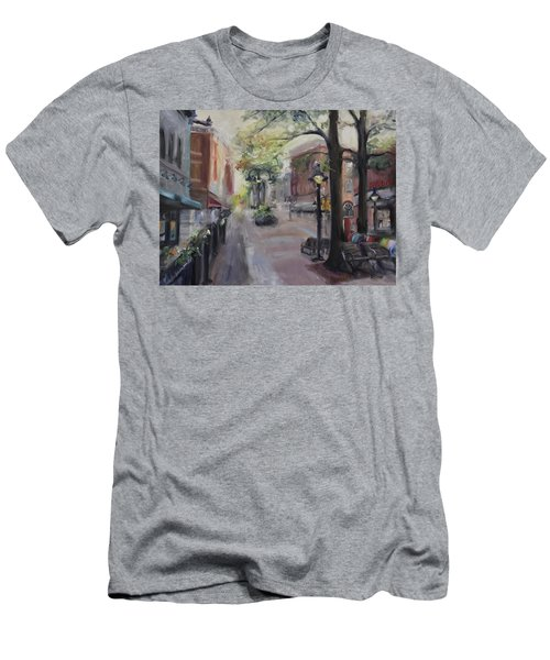 Charlottesville's Historic Downtown Mall Men's T-Shirt (Slim Fit) by Donna Tuten