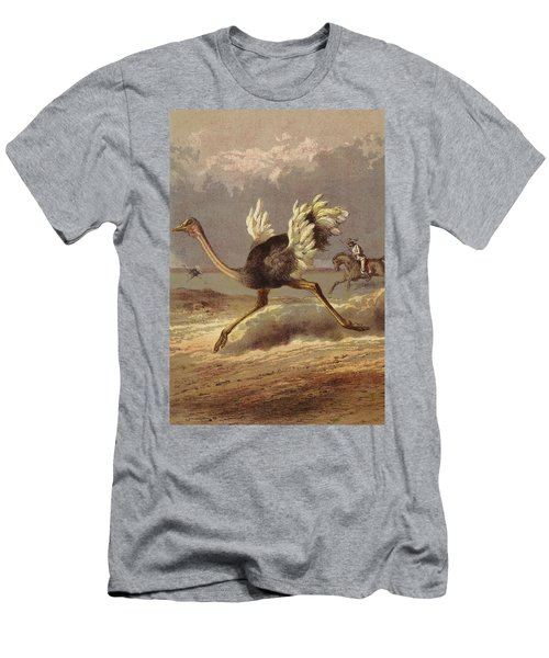 Chasing The Ostrich Men's T-Shirt (Athletic Fit)