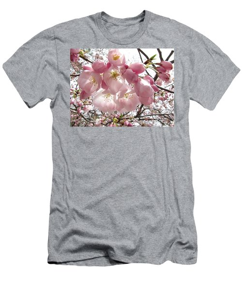 Cherry Blossoms Men's T-Shirt (Slim Fit) by Jennifer Wheatley Wolf