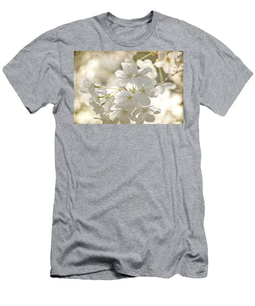 Cherry Blossoms Men's T-Shirt (Slim Fit) by Peggy Hughes