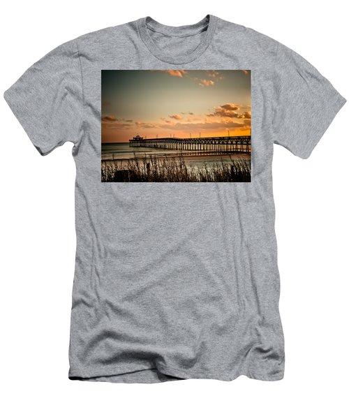 Cherry Grove Pier Myrtle Beach Sc Men's T-Shirt (Slim Fit) by Trish Tritz
