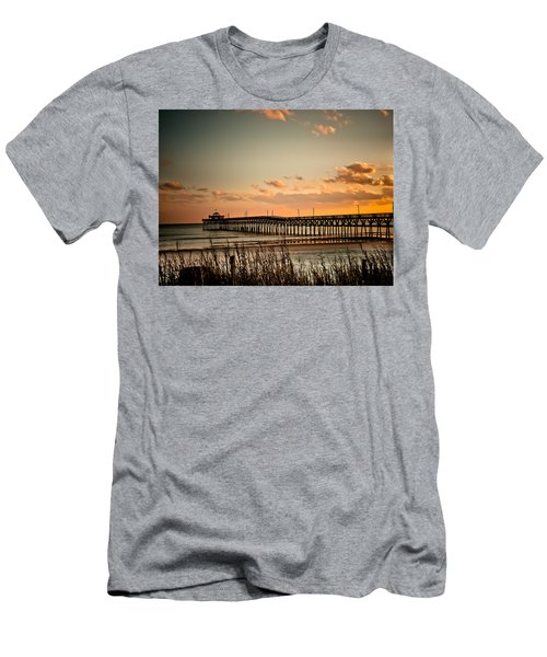 Cherry Grove Pier Myrtle Beach Sc Men's T-Shirt (Athletic Fit)