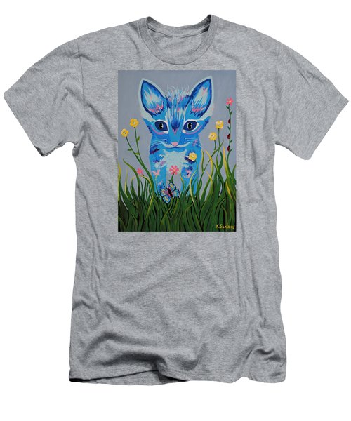 Men's T-Shirt (Slim Fit) featuring the painting Chibi by Kathleen Sartoris