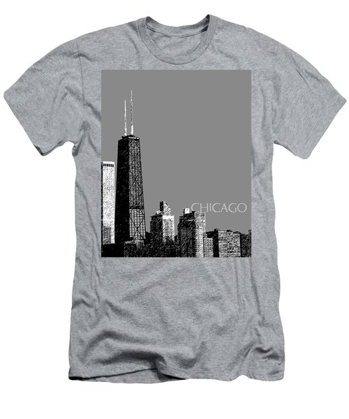 Chicago Hancock Building - Pewter Men's T-Shirt (Athletic Fit)