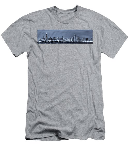 Chicago In Blue Men's T-Shirt (Athletic Fit)
