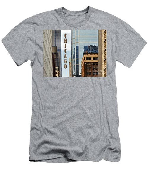 Chicago  Men's T-Shirt (Slim Fit) by Lydia Holly