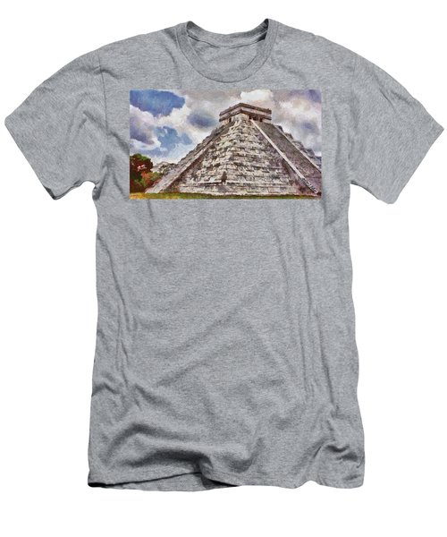 Chichen Itza Men's T-Shirt (Slim Fit) by Jeff Kolker