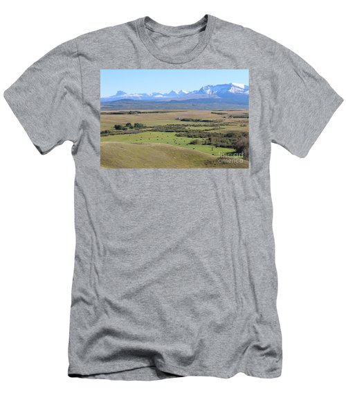Men's T-Shirt (Athletic Fit) featuring the photograph Chief Mountain by Ann E Robson