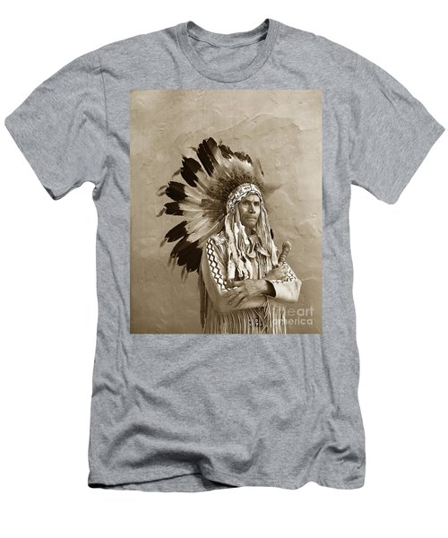 Chief Red Eagle Carmel California Circa 1940 Men's T-Shirt (Athletic Fit)