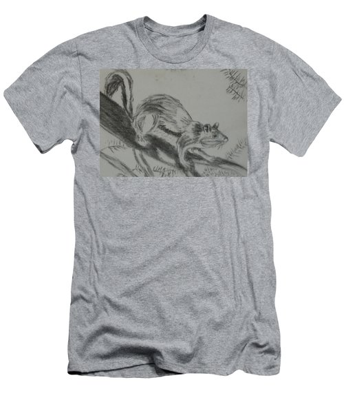Chipmunk On The Prowl Men's T-Shirt (Slim Fit)