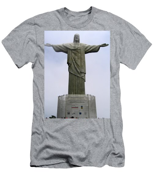 Christ The Redeemer Rio Men's T-Shirt (Slim Fit) by Jay Milo