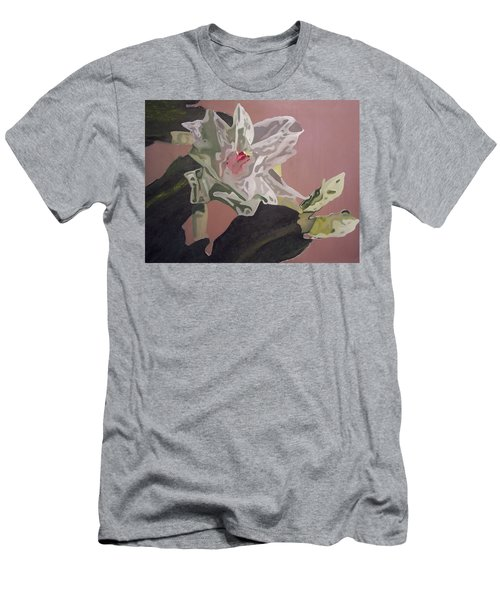 Christmas Bloom Men's T-Shirt (Slim Fit) by Claudia Goodell