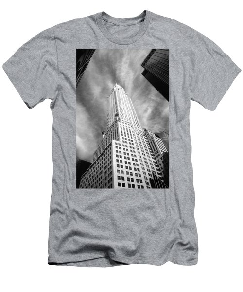 Chrysler Building Infrared Men's T-Shirt (Athletic Fit)