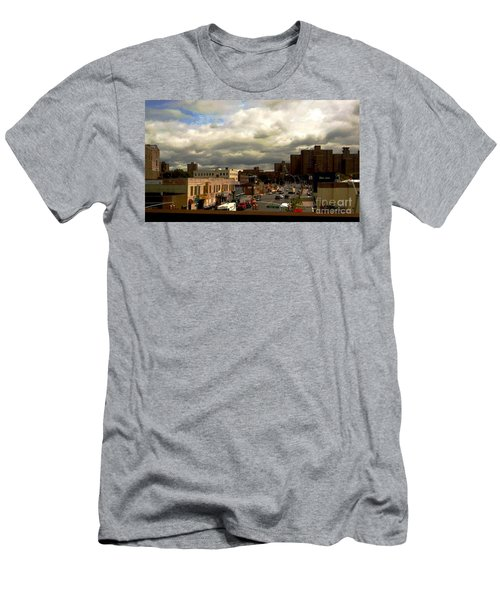 Men's T-Shirt (Slim Fit) featuring the photograph City And Sky by Miriam Danar