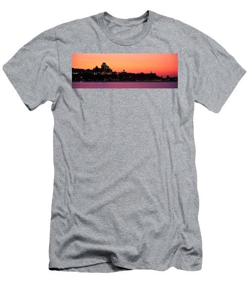 City At Dusk, Chateau Frontenac Hotel Men's T-Shirt (Athletic Fit)