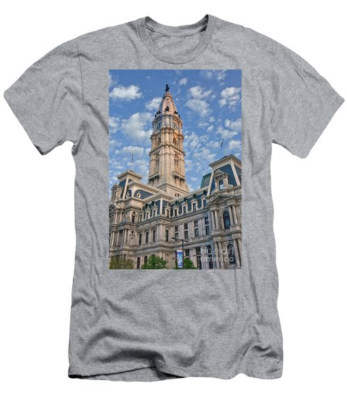 City Hall Clock Tower Downtown Phila Pa Men's T-Shirt (Athletic Fit)