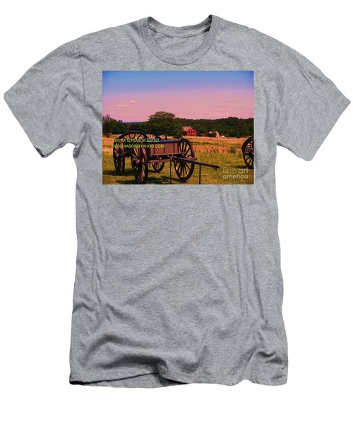 Civil War Caisson At Gettysburg Men's T-Shirt (Athletic Fit)