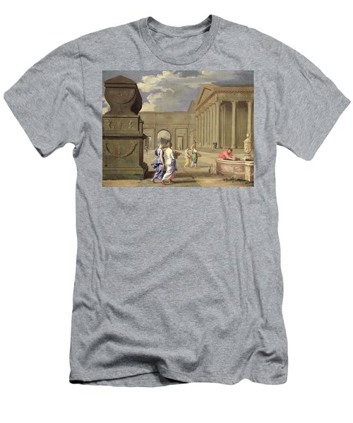Classical Landscape Oil On Canvas Men's T-Shirt (Athletic Fit)