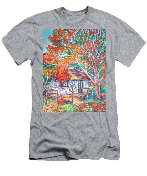 Claytor Lake Cabin In Fall Men's T-Shirt (Slim Fit) by Kendall Kessler