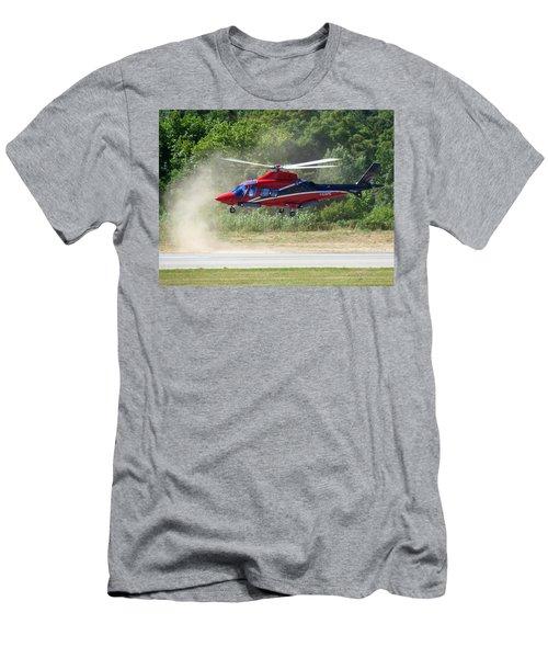 Close Landing  Men's T-Shirt (Slim Fit) by Rogerio Mariani