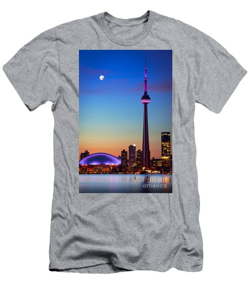 Cn Tower At Dusk Men's T-Shirt (Athletic Fit)