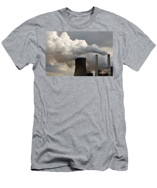 Coal Power Station Blasting Away Men's T-Shirt (Athletic Fit)