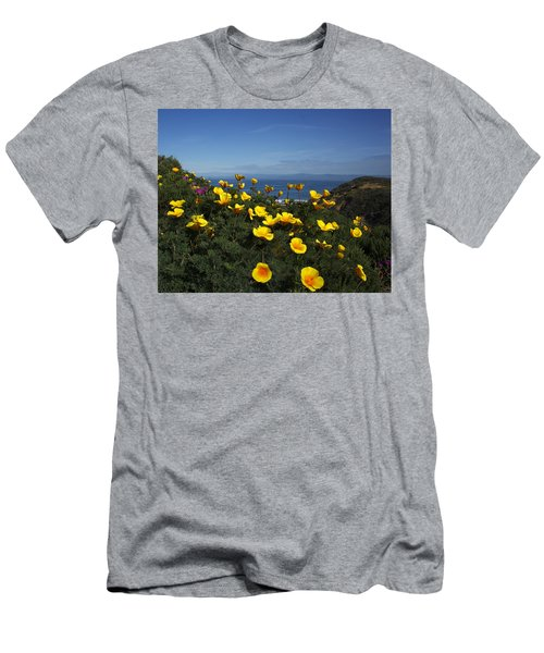 Coastal California Poppies Men's T-Shirt (Athletic Fit)