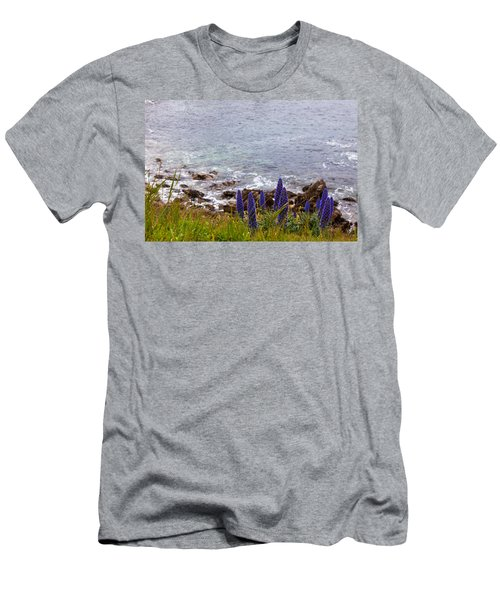 Coastal Cliff Flowers Men's T-Shirt (Athletic Fit)