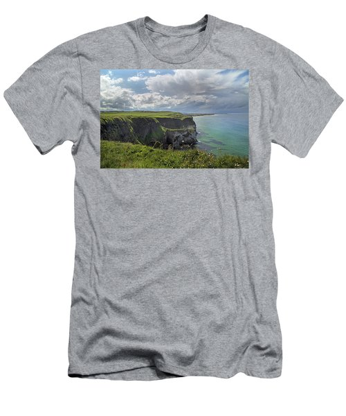 Coastal Cliffs Antrim Ireland Men's T-Shirt (Athletic Fit)