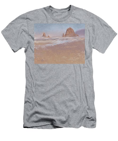 Coastal Escape  Cannon Beach Oregon And Haystack Rock  Men's T-Shirt (Athletic Fit)