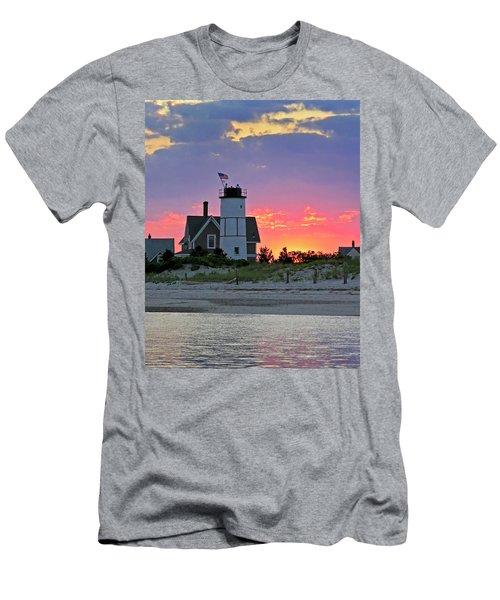 Cocktail Hour At Sandy Neck Lighthouse Men's T-Shirt (Athletic Fit)