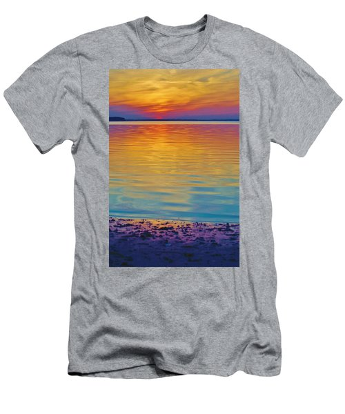 Colorful Lowtide Sunset Men's T-Shirt (Athletic Fit)