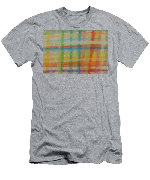 Colorful Plaid Men's T-Shirt (Athletic Fit)
