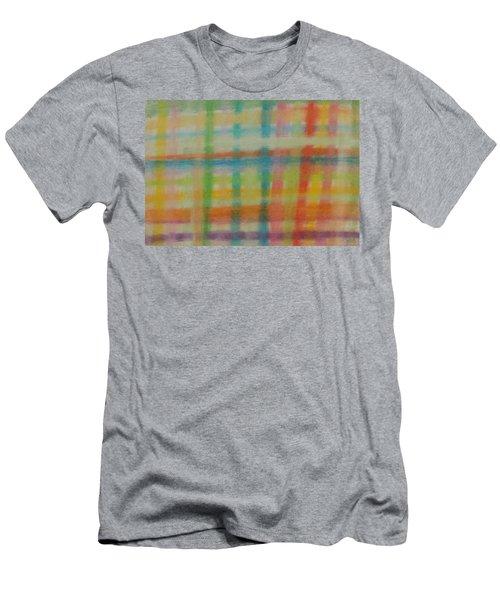 Colorful Plaid Men's T-Shirt (Slim Fit)