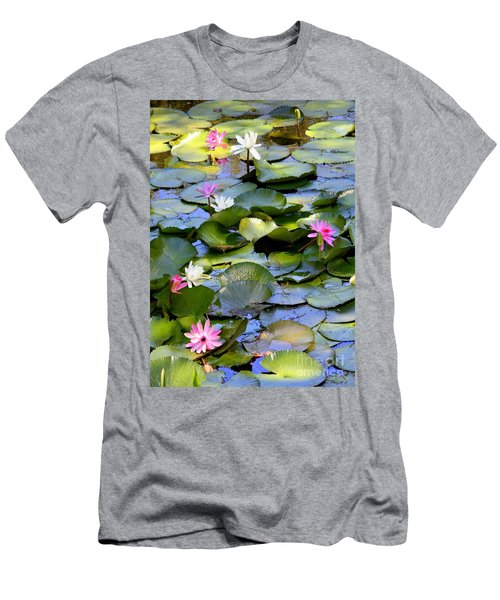 Colorful Water Lily Pond Men's T-Shirt (Athletic Fit)