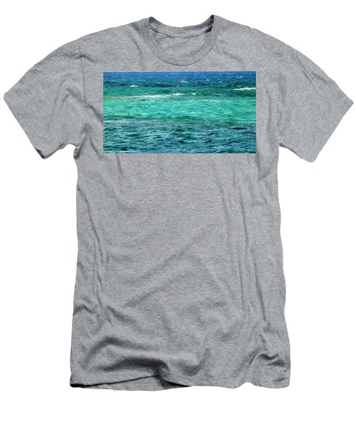 Colors Of The Sea  Men's T-Shirt (Athletic Fit)