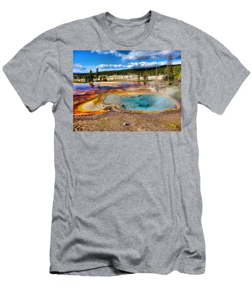 Colors Of Yellowstone National Park Men's T-Shirt (Athletic Fit)