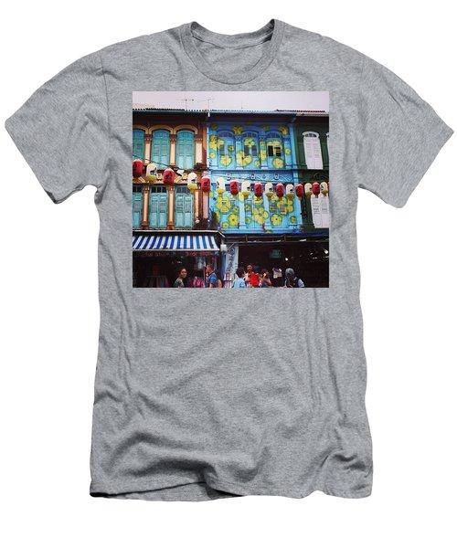 Colourful Singapore Men's T-Shirt (Athletic Fit)