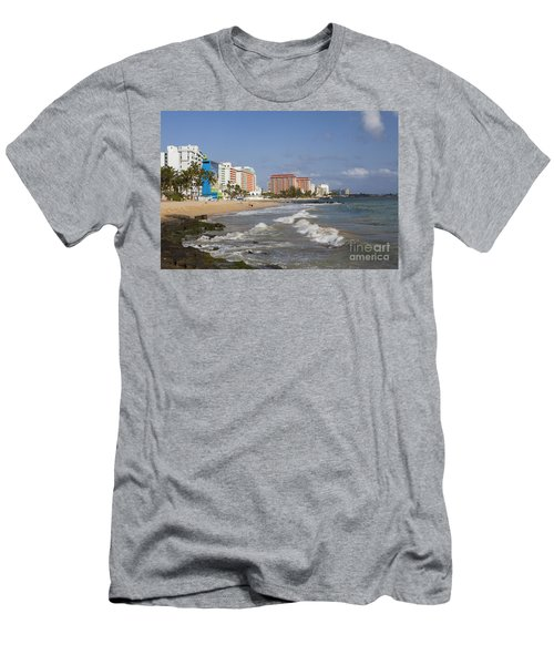 Condado Beach San Juan Puerto Rico Men's T-Shirt (Athletic Fit)