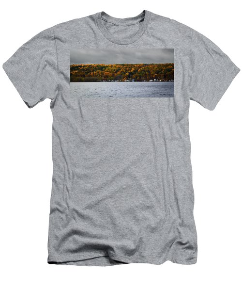 Conesus Lake Autumn Men's T-Shirt (Slim Fit) by Richard Engelbrecht