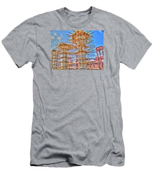 Men's T-Shirt (Slim Fit) featuring the pyrography construction whsd  Peterburg by Yury Bashkin