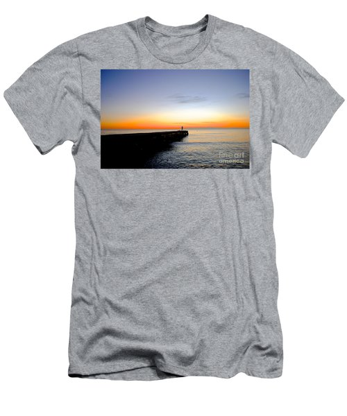 Men's T-Shirt (Slim Fit) featuring the photograph Contemplating The Meaning Of Life by Margie Amberge
