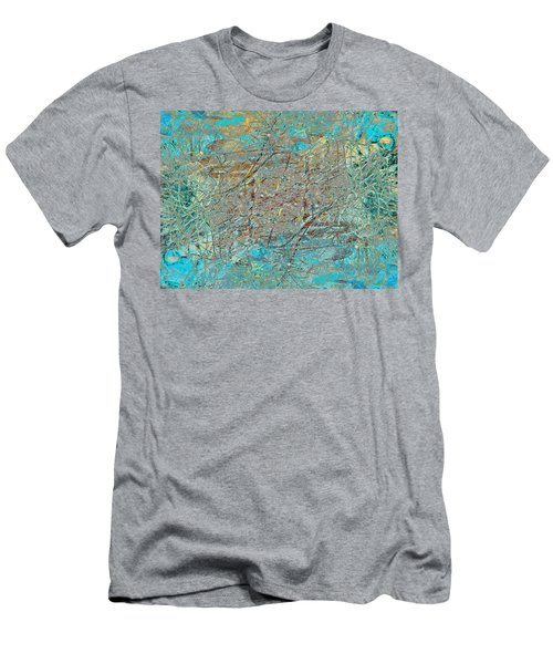 Men's T-Shirt (Slim Fit) featuring the photograph Cool Blue Tangle by Stephanie Grant