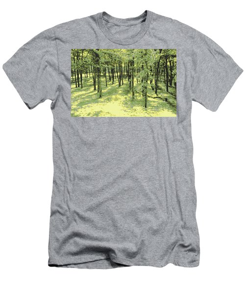 Copse Of Trees Sunlight Men's T-Shirt (Athletic Fit)