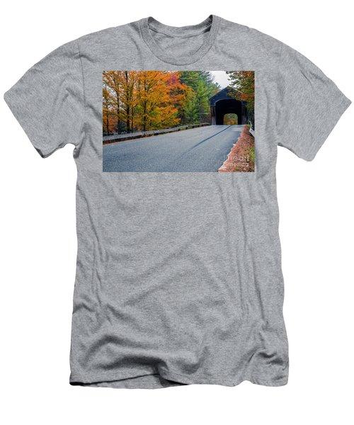 Corbin Covered Bridge New Hampshire Men's T-Shirt (Athletic Fit)