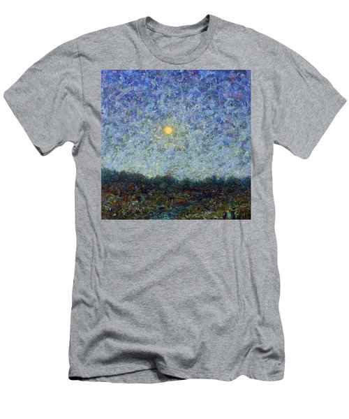 Men's T-Shirt (Slim Fit) featuring the painting Cornbread Moon - Square by James W Johnson