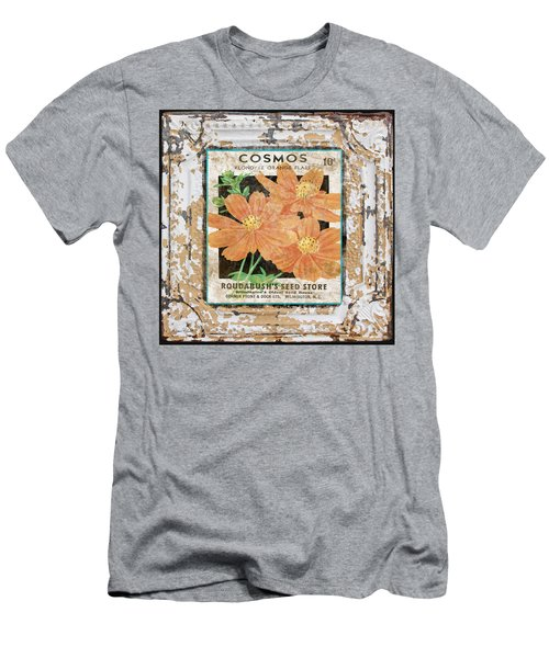 Cosmos On Vintage Tin Men's T-Shirt (Athletic Fit)