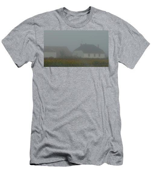Cottage In Mist Men's T-Shirt (Athletic Fit)