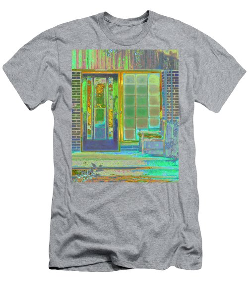 Cottage Porch Men's T-Shirt (Slim Fit) by Don and Judi Hall