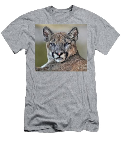 Men's T-Shirt (Slim Fit) featuring the photograph Cougar  by Savannah Gibbs